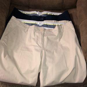 crown & ivy Pants - Crown & Ivy Capri Pants sz 10 (2 pair)